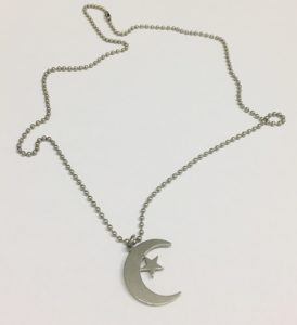 Muslim Prayer Beads Star and Crescent Necklace